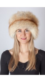Cappello in volpe Scandinava platinum gold