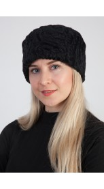 Cappello in agnello persiano karakul nero