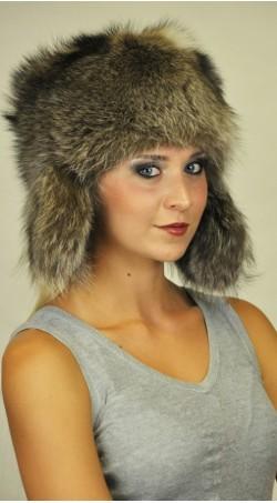 Cappello in marmotta con copriorecchie