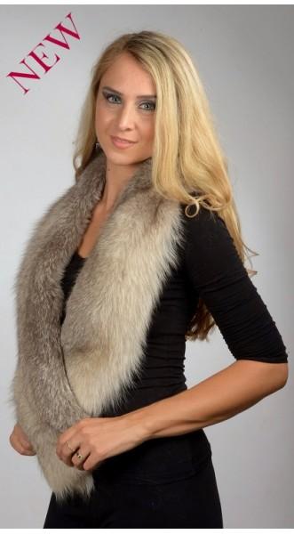 scegli l'autorizzazione grande vendita grandi affari 2017 Sciarpa pelliccia volpe grigio perla | Sciarpe in vero pelo ...
