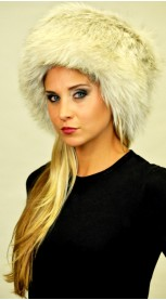 Cappello in volpe Arctic platinum