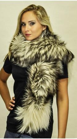 Sciarpa pelliccia in volpe Arctic platinum