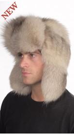 Cappello in pelliccia per uomo in volpe grigia 42a30f08033c