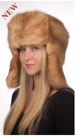 Cappello zibellino stile russo donna - color champagne