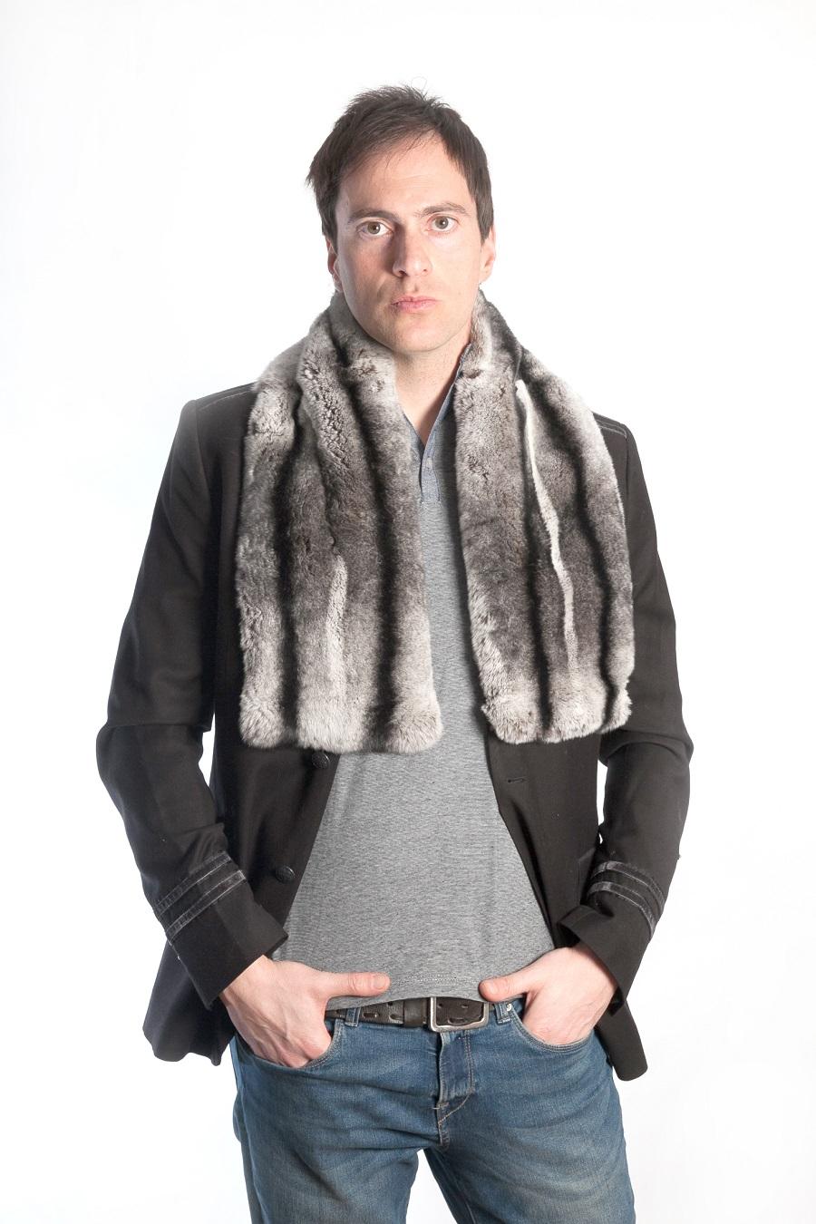 offerte esclusive servizio duraturo l'ultimo Sciarpe di vera pelliccia:La soffice sciarpa di rex cincillà